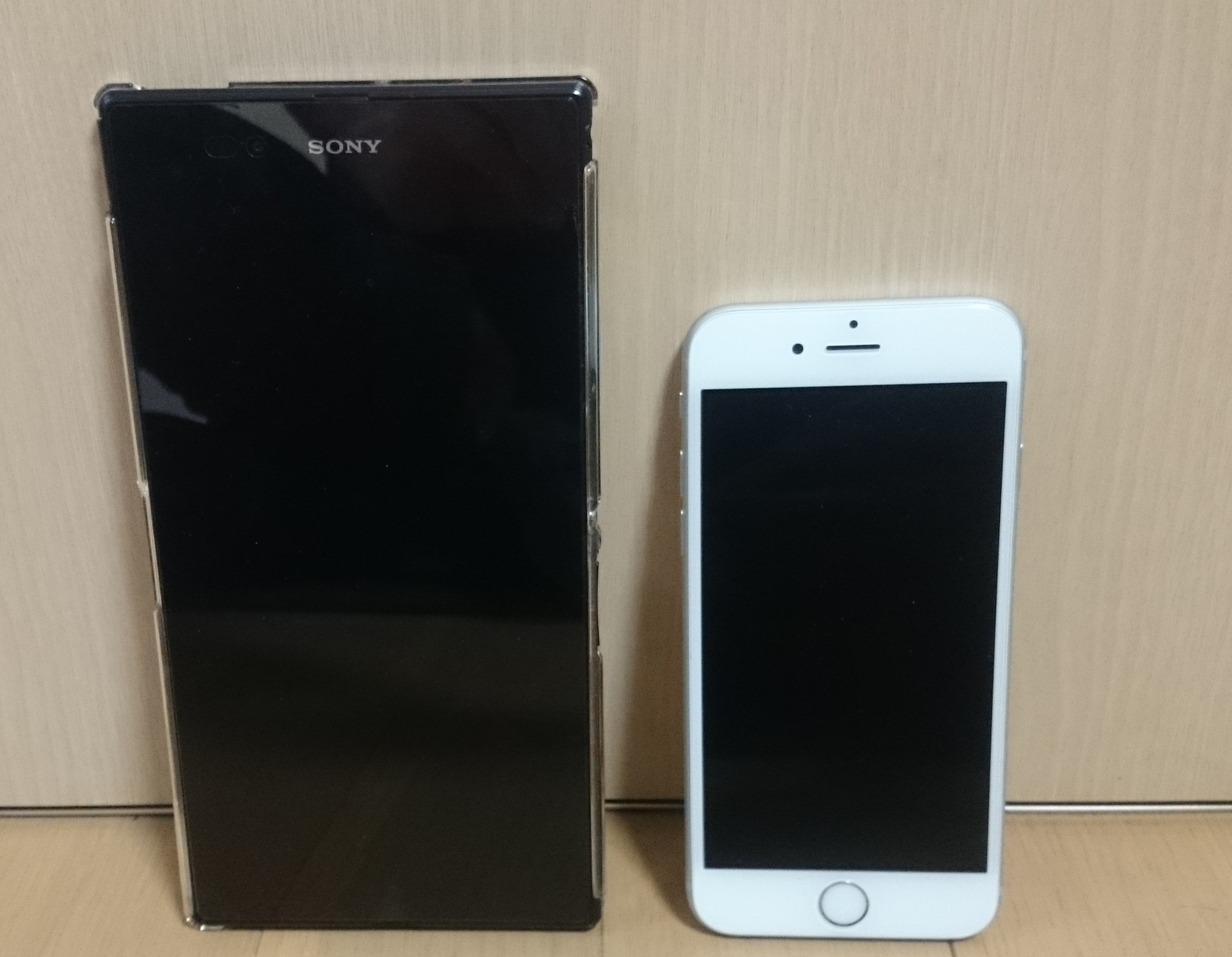 Xperia Z ultraとiPhone6s