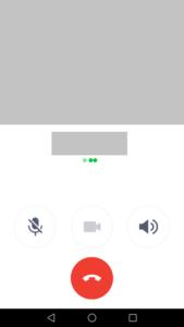Line 通話画面