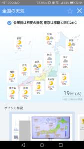 Yahoo!天気 全国の天気