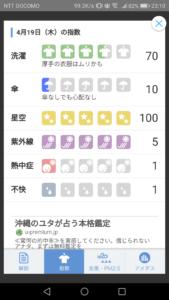 Yahoo!天気 指数情報